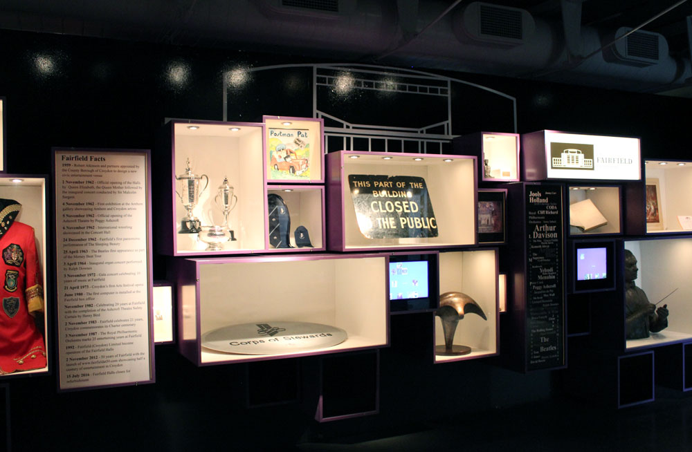An exhibition of objects relating to peoples memories about Fairfield Halls